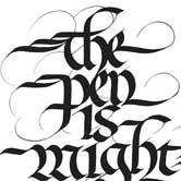 Ornate calligraphy design. Click to view.