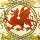 Wlesh dragon design with daffodils. Click to view.