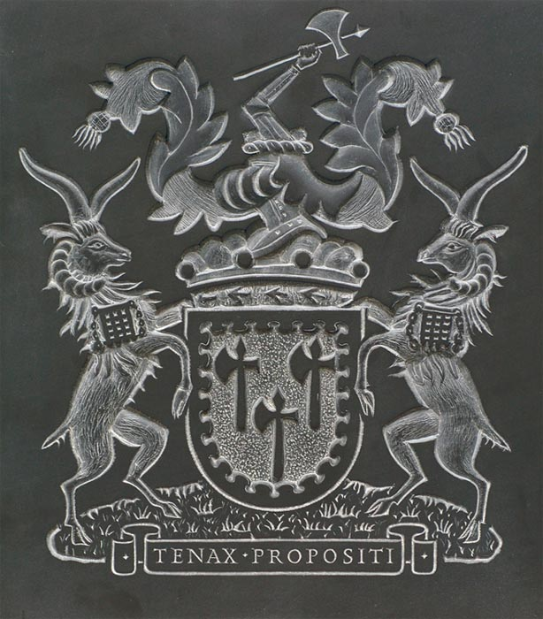 Coat of Arms in Bass relief.
