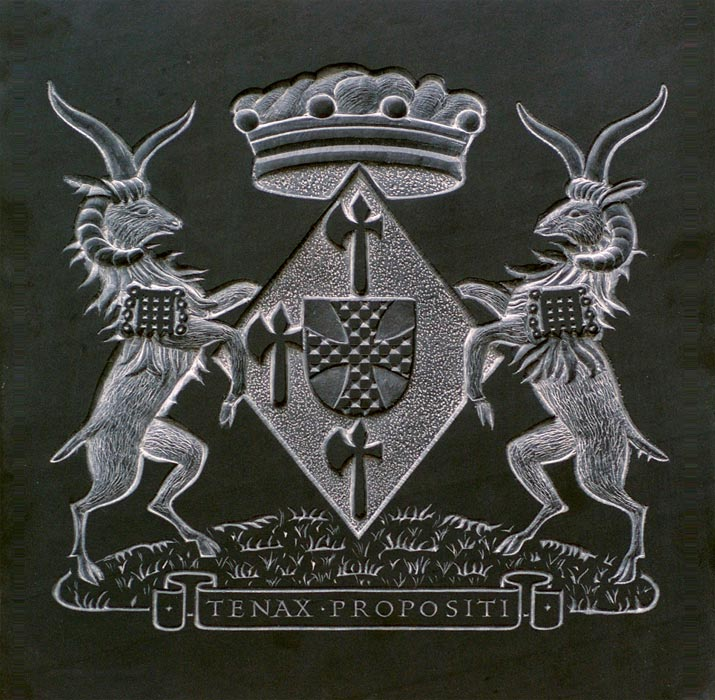 Bass relief Coat of Arms.
