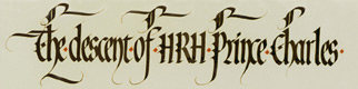 Example of Calligraphy by Ieuan Rees