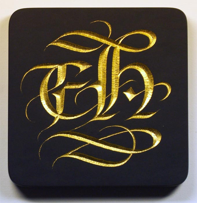 black and gold graphic design