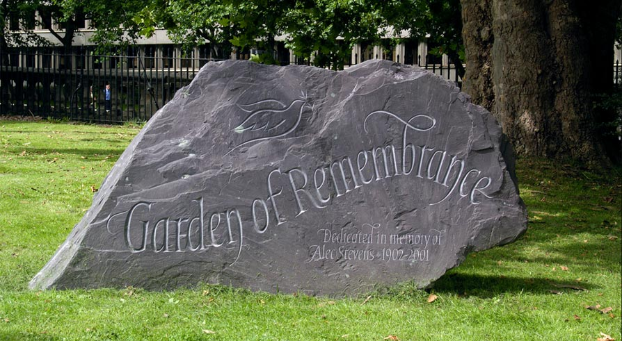 examples of memorial and boulder work by lettering and