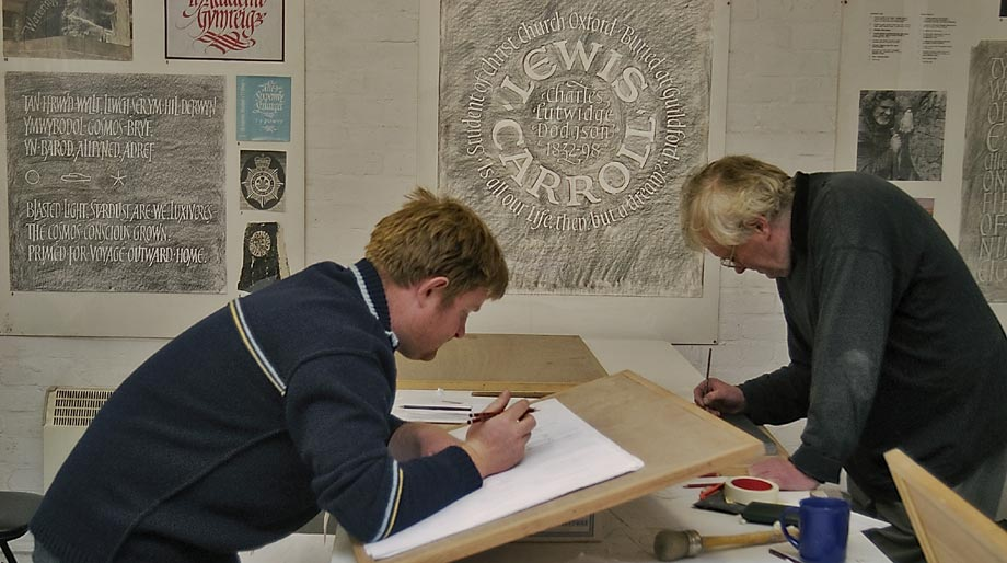 Students practicing the Art of Calligraphy.